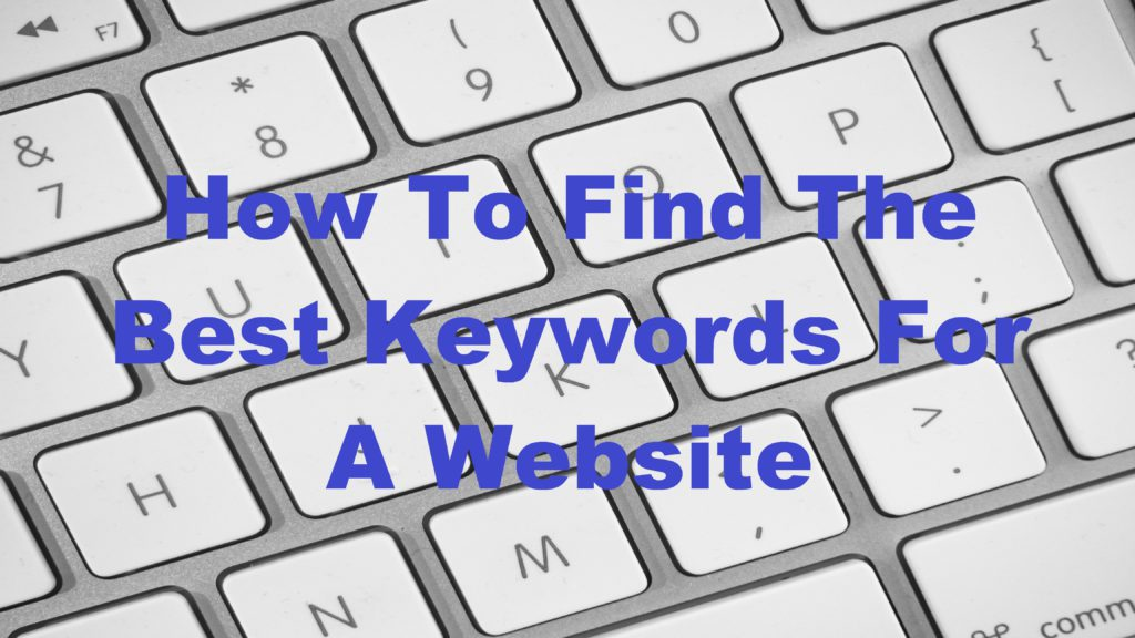"Keyboard with title""how to find the best keywords for your website"""
