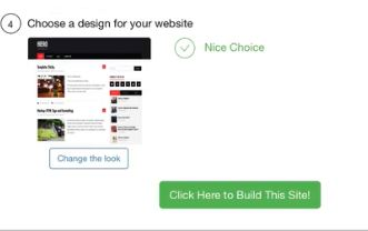 Choose a design for your website