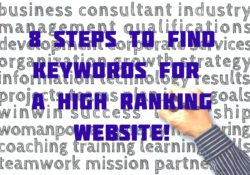 8 Steps To Find Keywords For A High Ranking Website